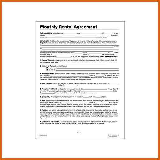 printable rental agreement | apa examples