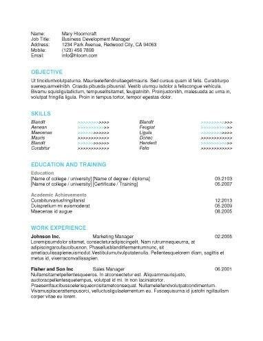 Free Basic Resume Examples. Sample Microsoft Word College Student ...