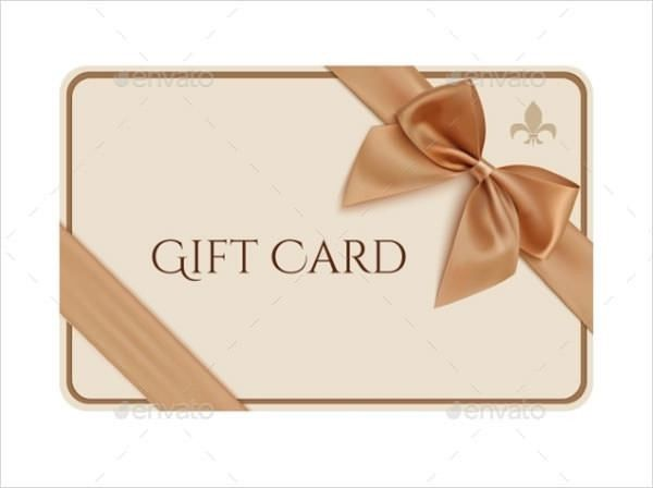 8+ Sample Gift Card Templates