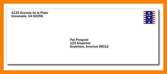 7+ mail envelope example   addressing letter