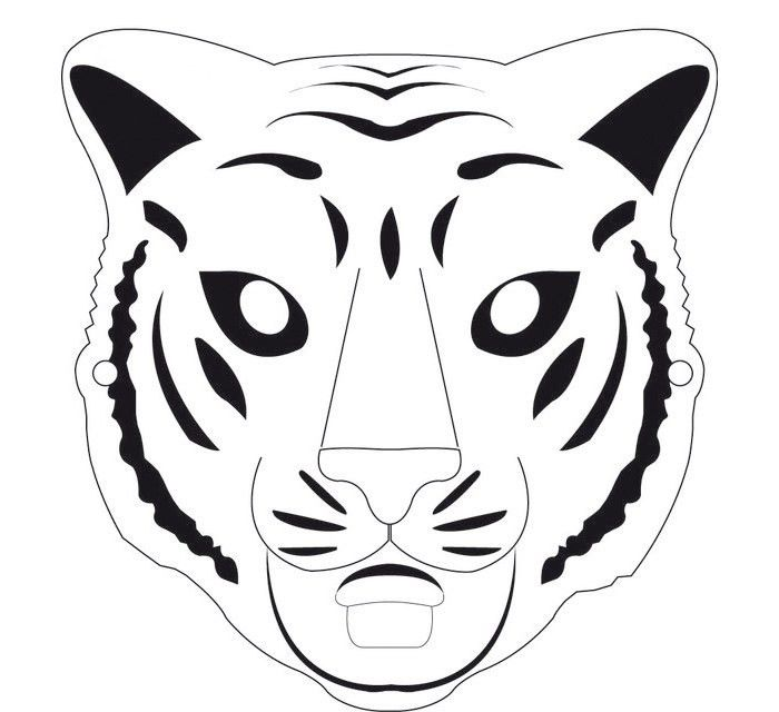 60+ Tiger Shape Templates, Crafts & Colouring Pages   Free ...