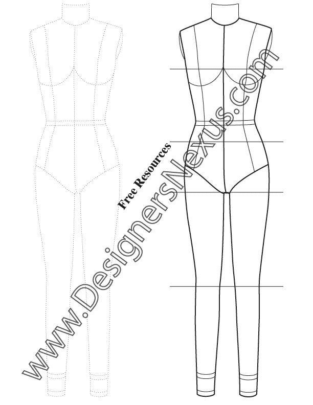 9 best Technical Drawing Fashion Figure Templates images on ...