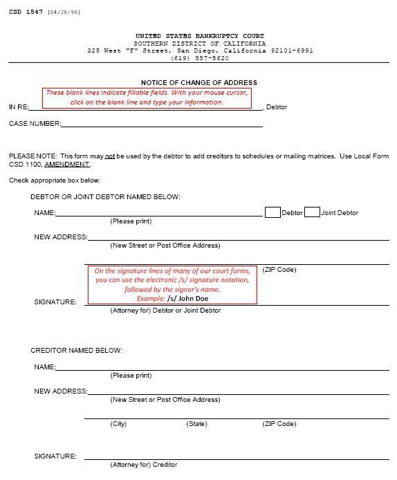 Local Rules & Court Forms | 4. Form CSD 1547 (continued)