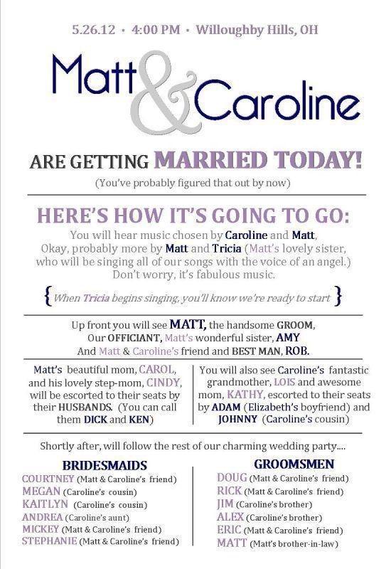 Wedding Ceremony Program Template   rapidimg.org