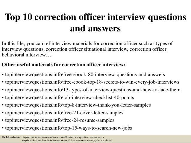 correctional officer cover letter my document blog example ...