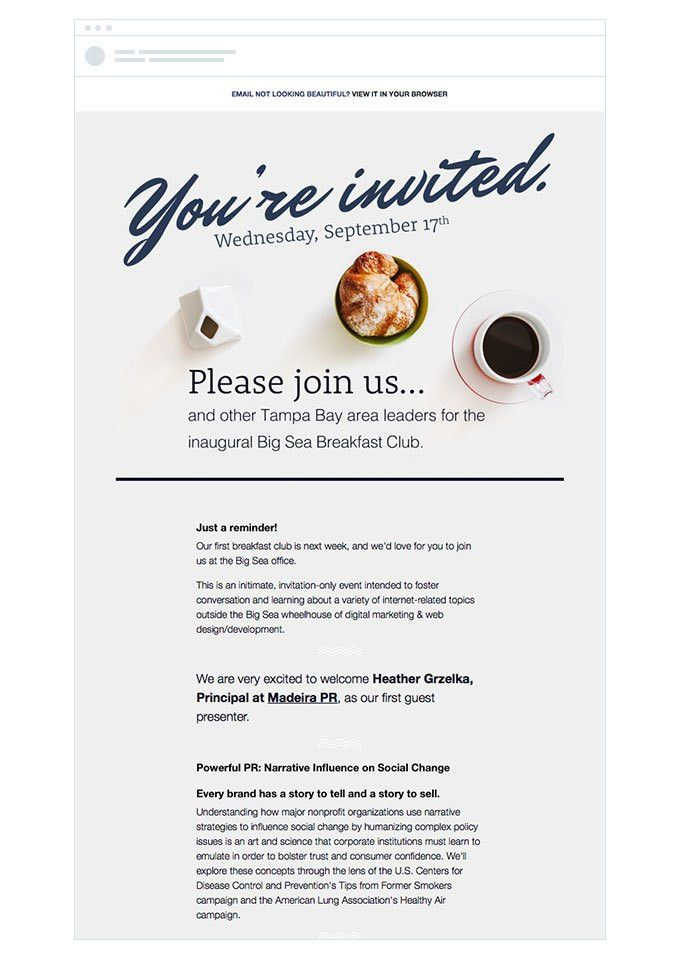 4 Event Invitation Emails That Draw Crowds | Campaign Monitor