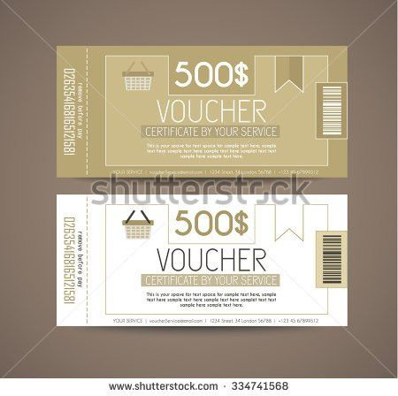 Voucher Gift Card Layout Template Your Stock Illustration ...