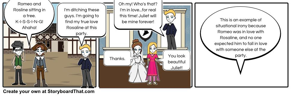 Situational irony in Romeo and Juliet... Storyboard