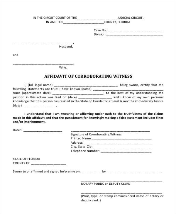 How To Write A Legal Affidavit, asseveration of david-hunter ...