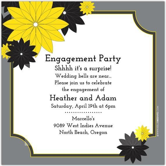 Surprise Engagement Party Invitations | cimvitation