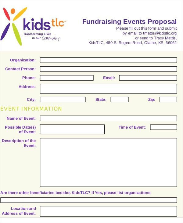 8 Fundraising Event Proposal Templates -Free Sample, Example ...