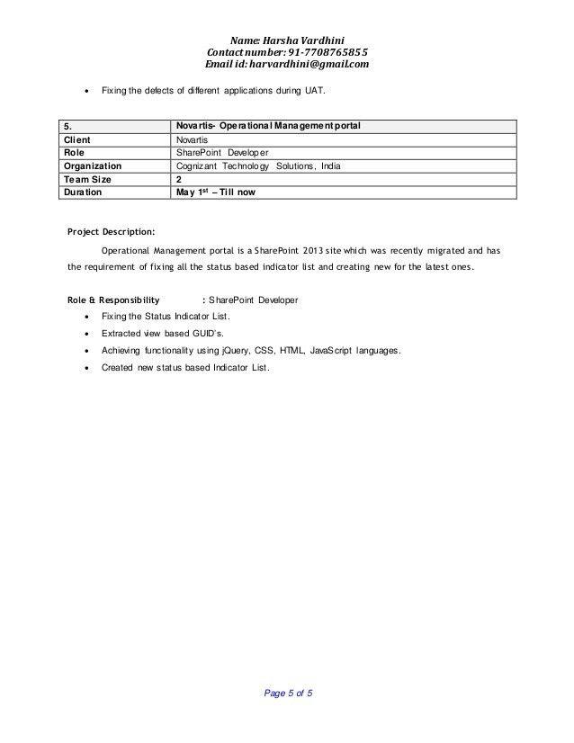 Harsha Vardhini Resume