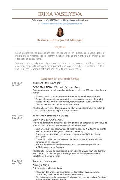 Assistant Store Manager Resume samples - VisualCV resume samples ...