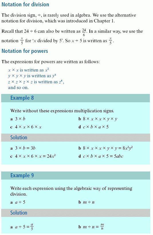 Volume: Algebra Abbreviation