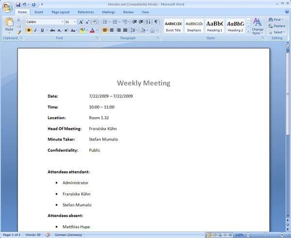 de brief meeting template