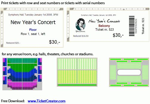 TicketCreator - Free download and software reviews - CNET Download.com