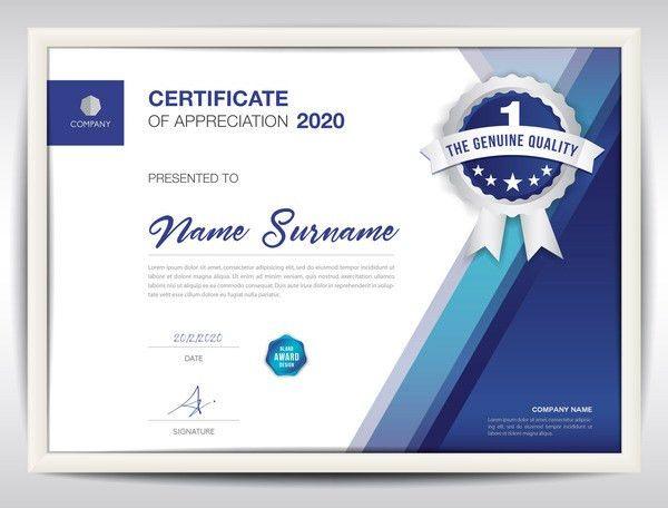 Business certificate template creative design vector 01 - Vector ...