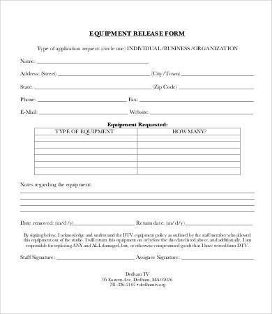 Release Form Template - 10+ Free Sample, Example, Format | Free ...