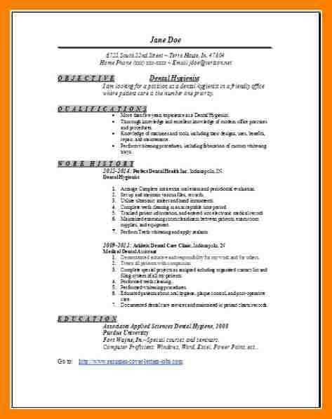 8+ Dental Hygienist Resume Sample | Packaging Clerks