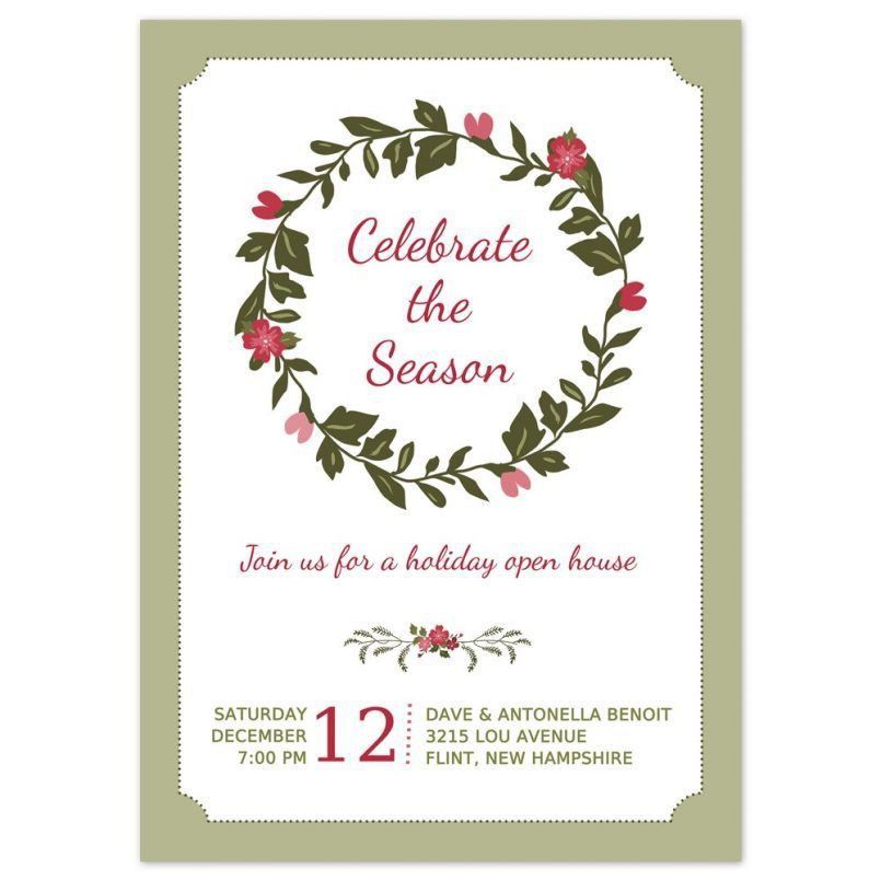 Template Elegant Christmas Party Invitation Card Template With Hd ...