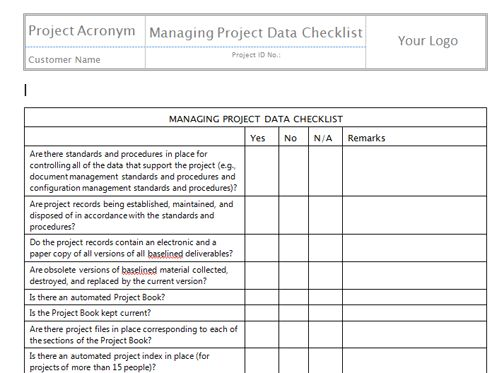 Monitor and Control Project Work Templates | Project Management ...
