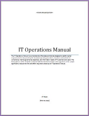 IT Operations Manual Template | The Higher Ed CIOThe Higher Ed CIO