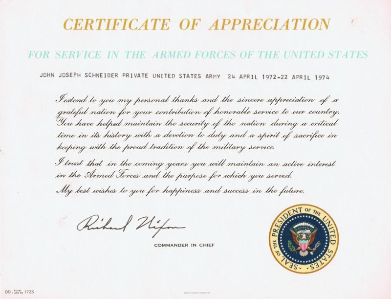 Presidential Letter of Appreciation