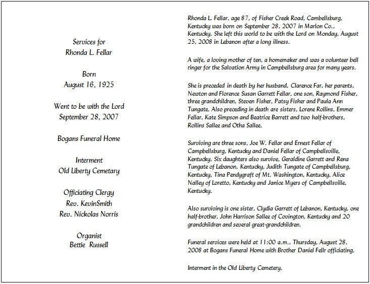 Funeral Notice Template. Image Titled Write A Funeral Program ...