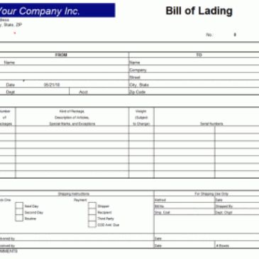 Delivery Bill Of Lading Template Archives | uspensky-irkutsk.ru