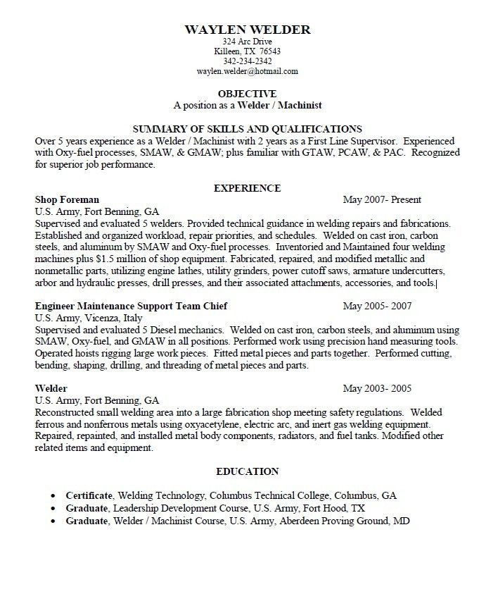 manual machinist resumes 2. machinist resume machinist resume2 ...