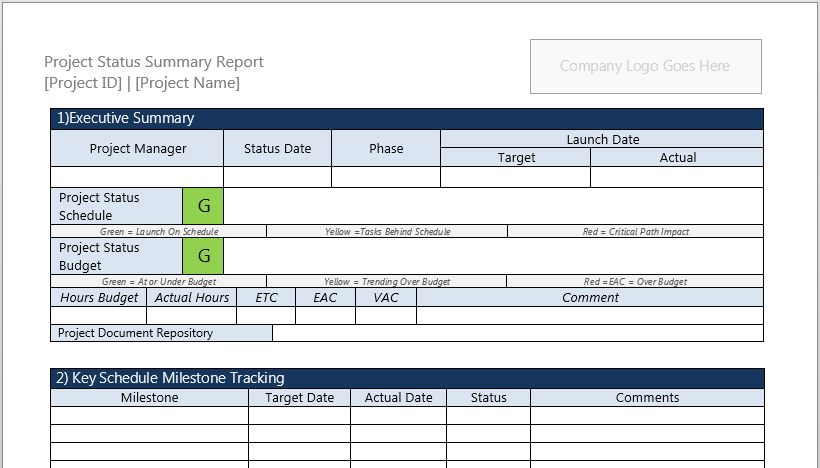 Project Charter Template for Microsoft Word 2013 | Robert McQuaig Blog
