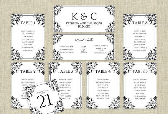Sample Chart Templates » Wedding Seating Chart Template 10 Per ...