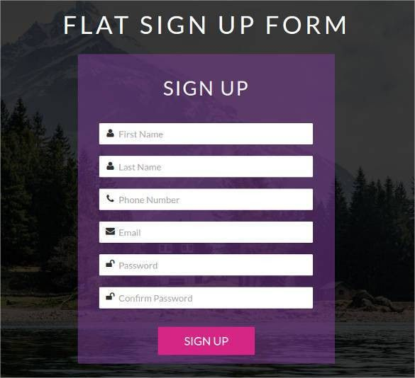 HTML5 Signup & Registration Forms - 20+ Free HTML, CSS Format ...