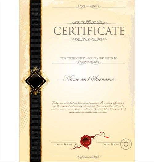 Certificate border template free vector download (17,450 Free ...