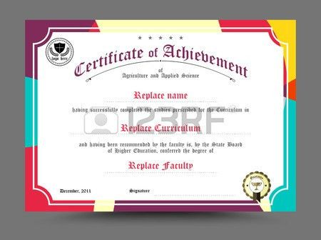 Diploma Certificate Template Design. Vector Illustration. Royalty ...