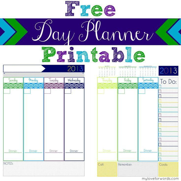 Best 25+ Day planners ideas on Pinterest | Daily planner printable ...