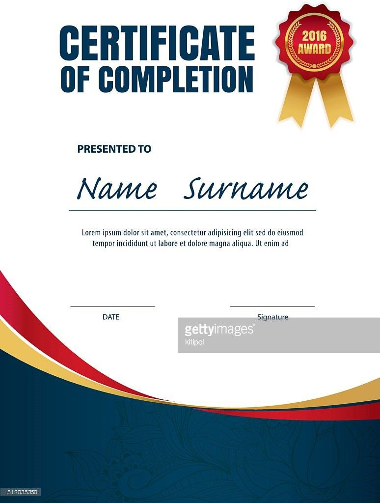 Certificate Templatediploma Layouta4 Size Vector Vector Art ...