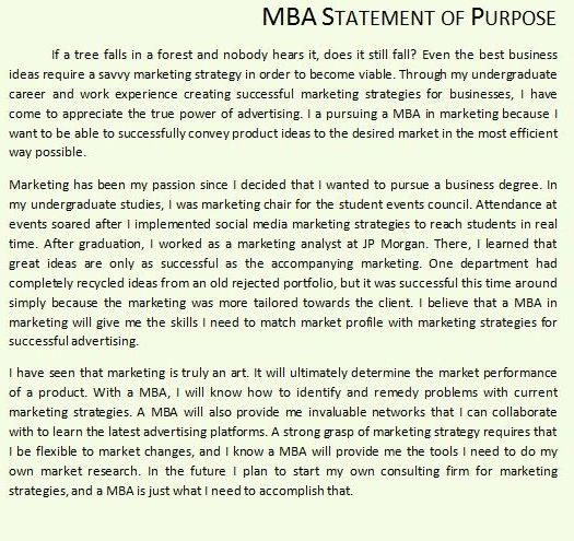 Where can I find good MBA sop examples online? - Quora