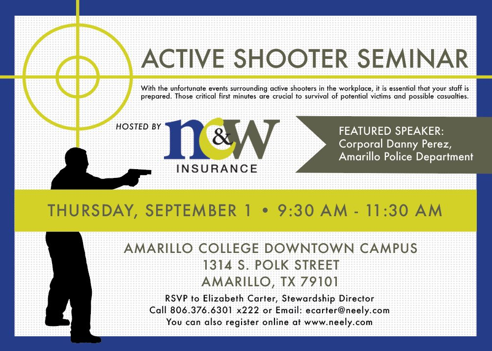 NCW Insurance   Don't Miss our Active Shooter Seminar