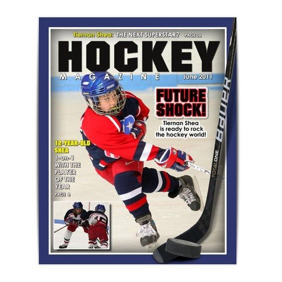 Photoshop Template Sports Design 8x10 HOCKEY Magazine