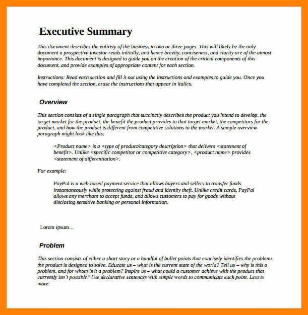 8+ project executive summary template | format of notice