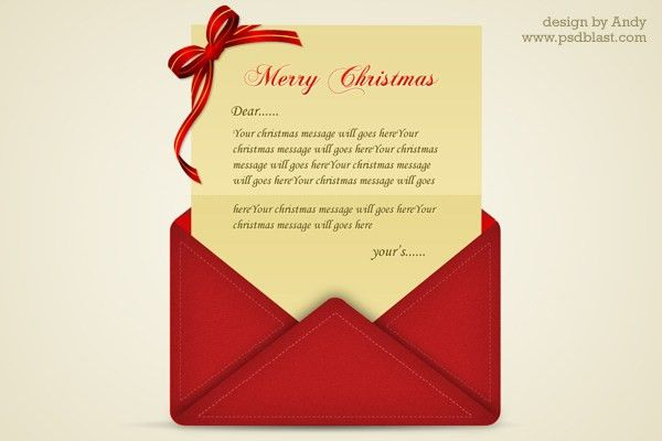 30+ Christmas Free PSD Holiday Card templates for design and ...