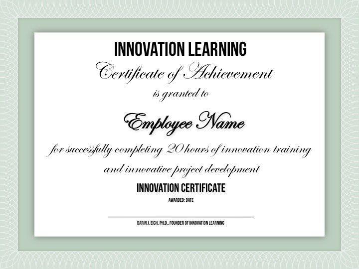 Innovation Certification — Innovation Training | Design Thinking ...