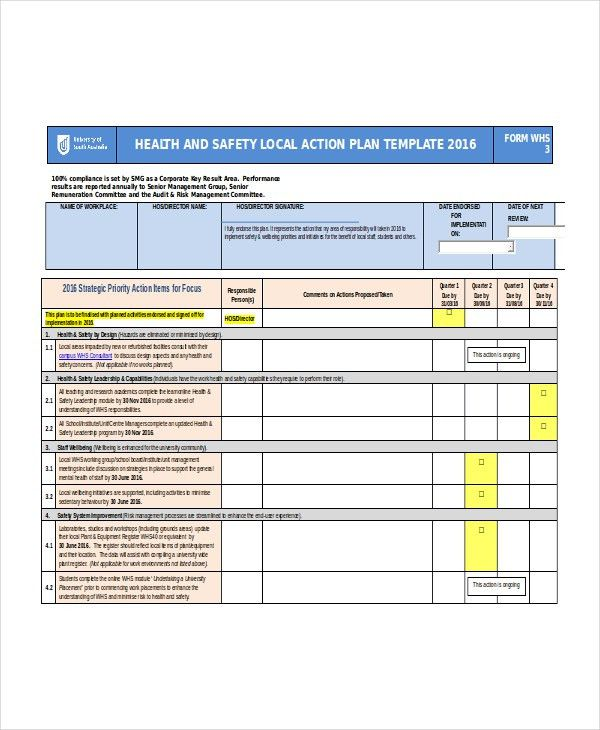 Word Action Plan Template - 7+ Free Word Document Downloads | Free ...