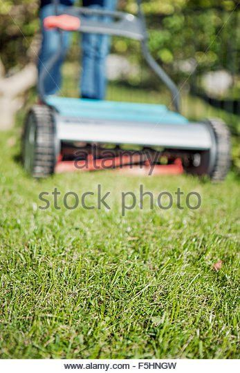 Lawn Mowing Teenager Stock Photos & Lawn Mowing Teenager Stock ...