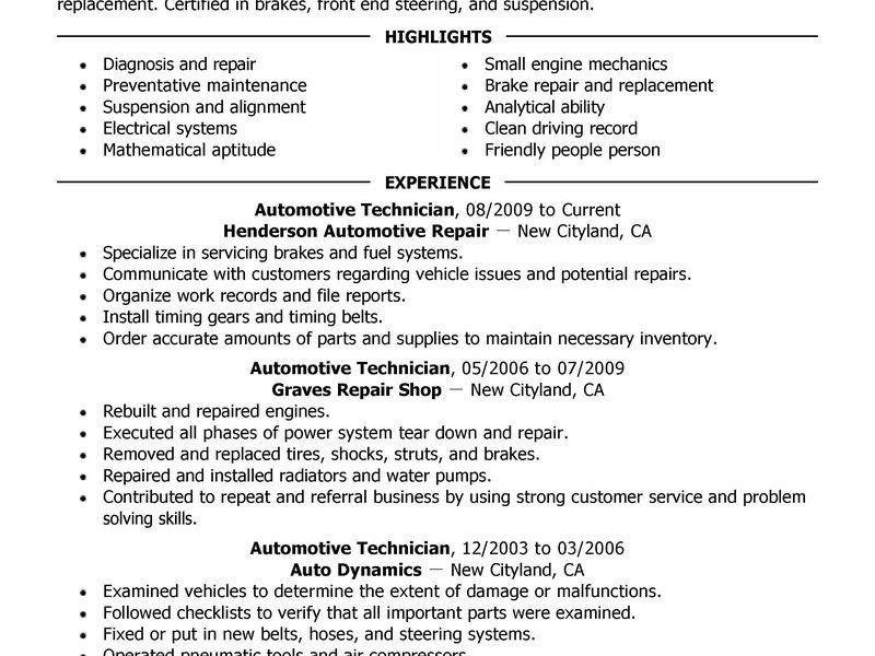 Download Automotive Engineer Sample Resume | haadyaooverbayresort.com