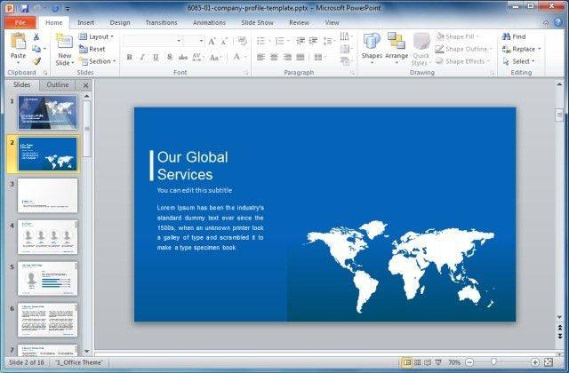 Company Profile Presentation Template - Tomyads.info
