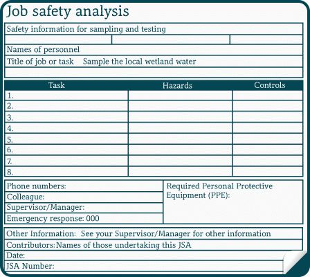 NWP103A: Job safety analysis