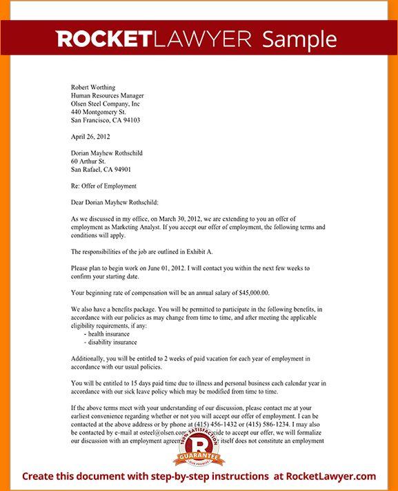 6+ job offer letter template | Outline Templates