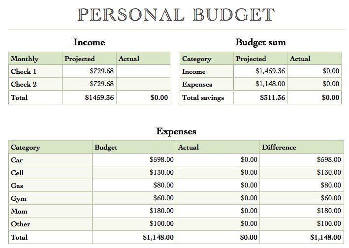 28+ Budgets Templates | Home Management Binder Monthly Budget Diy ...